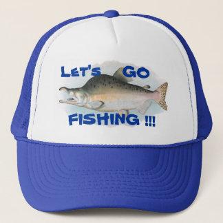 Ga vissend het Pet van de Visserij van de Zalm van