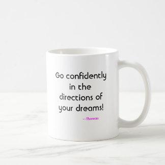 Ga vol vertrouwen in de richtingen van uw dromen… koffiemok