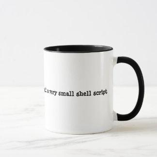 Ga weg of ik zal u met een shell manuscript mok