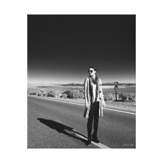Ga West~by Jacqueline Kruse Canvas Afdrukken