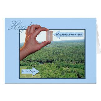 Ga zoeken een micro in het bos! uitnodiging