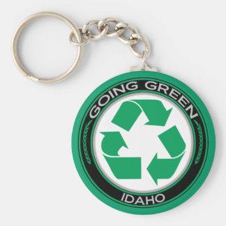 Gaand Groen Recyclen Idaho Basic Ronde Button Sleutelhanger