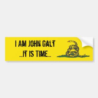 Gadsden John Galt It is Tijd Bumpersticker