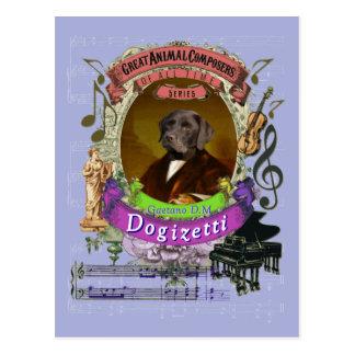 Gaetano Dogizetti Dog Animal Composer Donizetti Briefkaart