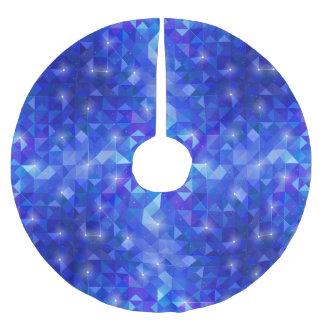 Galaxy crystal Blue polygonal facet pattern