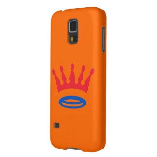 Galaxy S5 Oranje met Nederlands kroontje Galaxy S5 Hoesje