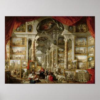 Galerij met Uitzichten van Modern Rome, 1759 Poster