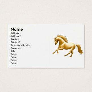 Galopperend Gouden Paard Visitekaartjes