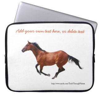Galopperend Volbloed- Laptop van het Paard Sleeve Laptop Computer Hoesjes