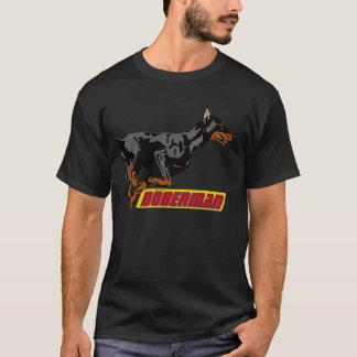 Galopperende zwarte Doberman- T Shirt