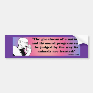 Gandhi Bumpersticker