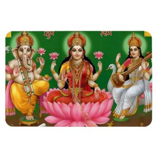 Ganesha, Magneet Lakshmi, & Saraswati