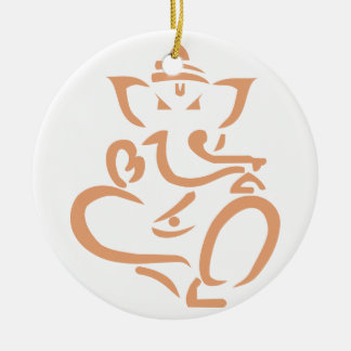 Ganesha Rond Keramisch Ornament