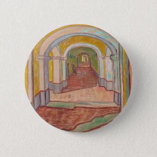 Gang in het Ziekenhuis Vincent van Gogh van Saint Ronde Button 5,7 Cm