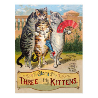 Gans van de Moeder van drie de Kleine Katjes Briefkaart