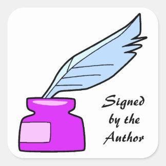 Ganzepen door de Auteur worden ondertekend die Vierkante Sticker