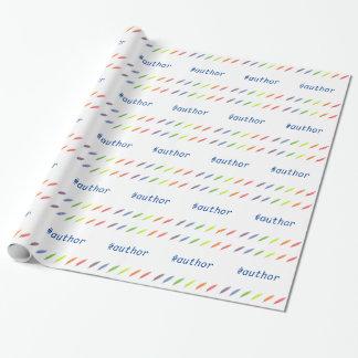Ganzepen en auteur hashtag inpakpapier