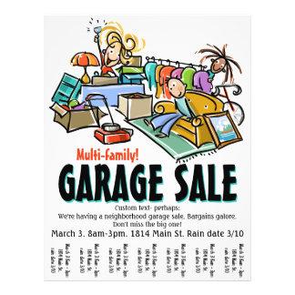 Garage sale. Bewegende Verkoop. De vlieger van de Folders
