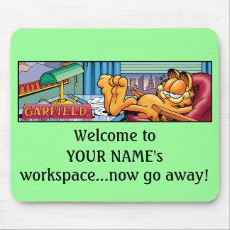 Garfield Logobox gaat nu Mousepad weg Muismat