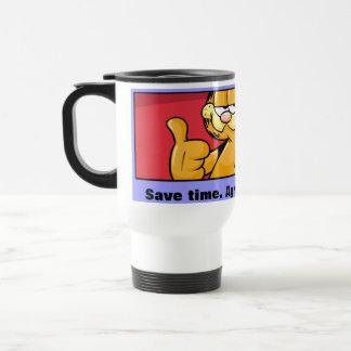 Garfield Logobox keurt met me de Mok van de Reis