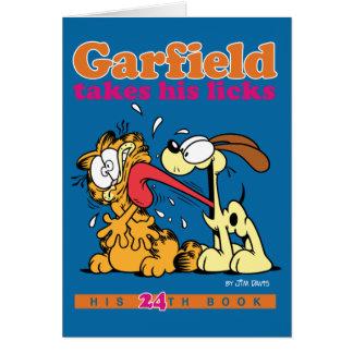 Garfield neemt Zijn Kaart van de Nota van Likken