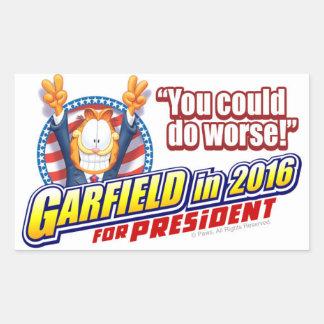 Garfield voor President in 2016 Rechthoekige Sticker
