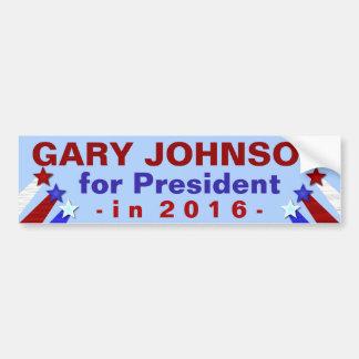 Gary Johnson Libertarian de Verkiezing van het Bumpersticker