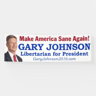 """Gary Johnson """"maakt Amerika opnieuw tot Gezonde"""""""