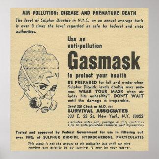 gasmasker advertentie poster