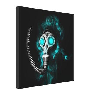 Gasmasker Canvas Afdruk