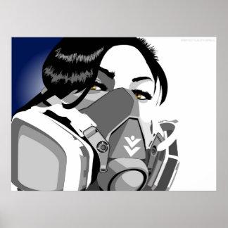 gasmasker meisje poster