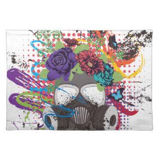 Gasmasker met Rozen 5 Placemat