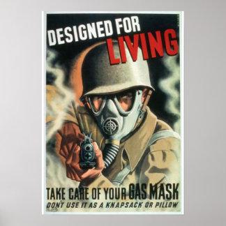 Gasmasker Poster