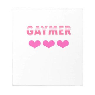 Gaymer (v2) notitieblok