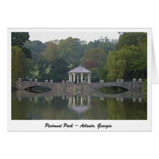 Gazebo bij het Park van Piemonte - Atlanta, GA Wenskaart