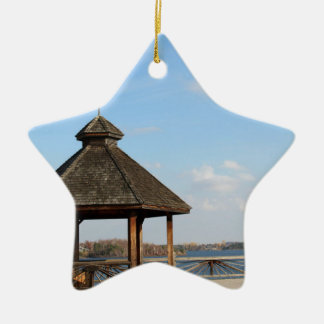 Gazebo over Meer Keramisch Ster Ornament