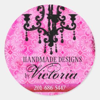 GC | Roze van Passione van de Glans Ronde Sticker