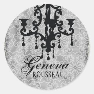 GC | Vintage Kroonluchter Gris Ronde Sticker