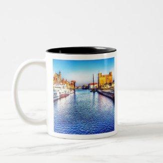 Gdansk Polen Tweekleurige Koffiemok