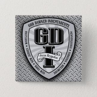 GDI Vierkante Knoop 1 Vierkante Button 5,1 Cm