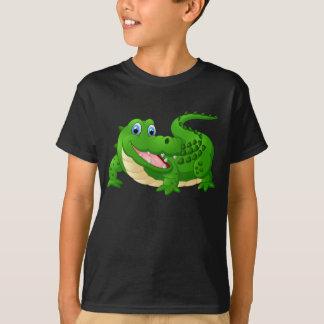 Geanimeerde Gelukkige Krokodil T Shirt