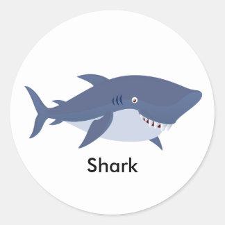 Geanimeerde Haai Ronde Sticker