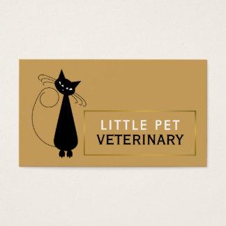 Geanimeerde Zwarte Veterinaire Kat, Veterinair, Visitekaartjes