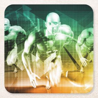 Geavanceerde Technologie als Achtergrond van het Vierkante Onderzetter