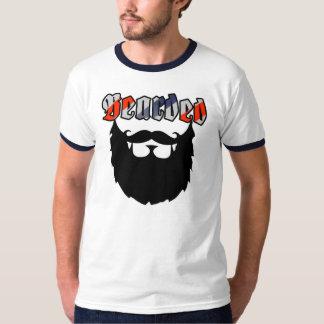 Gebaarde Gestreepte Kapper T Shirt