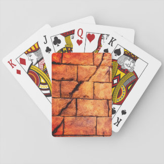 Gebarsten Bakstenen muur Speelkaarten