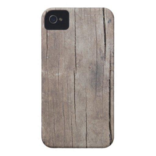 Gebarsten Houten Geval iPhone 4 Case-Mate Hoesje