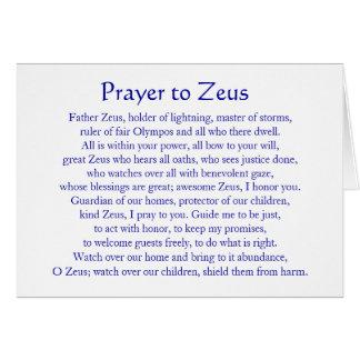 Gebed aan Zeus Briefkaarten 0