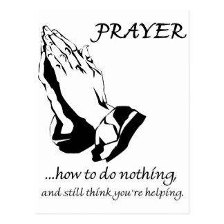 Gebed hoe te om niets te doen briefkaart