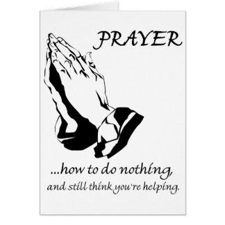 Gebed hoe te om niets te doen kaart
